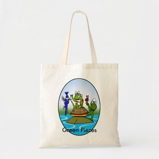 Green Pieces Budget Tote Bag