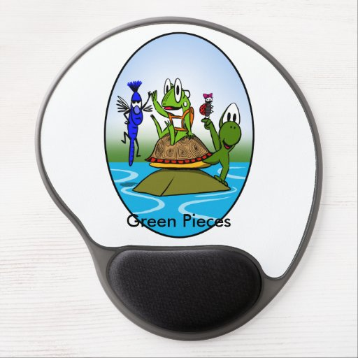 Green Pieces Gel Mouse Pad