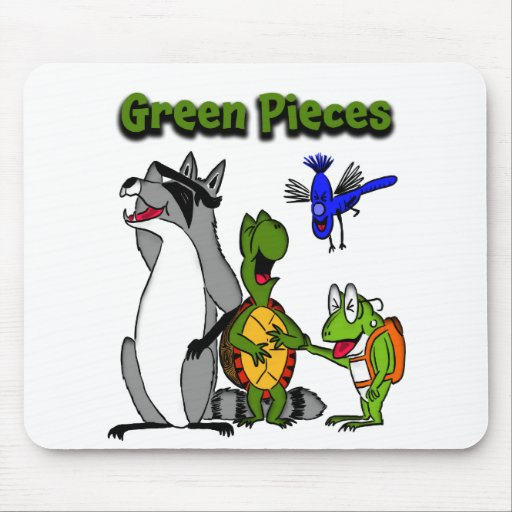 Green Pieces Team Mouse Pad