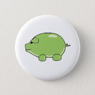 Green Pig Button