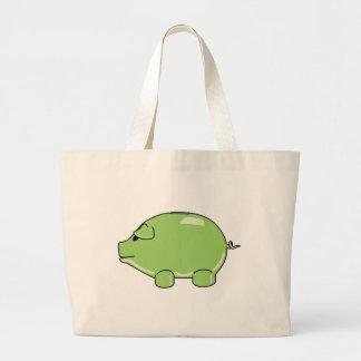 Green Pig Jumbo Tote Bag