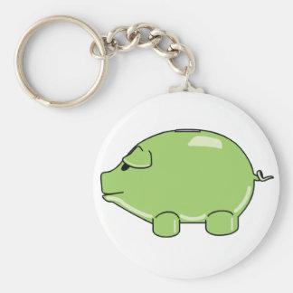 Green Pig Keychain