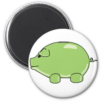 Green Pig Magnet