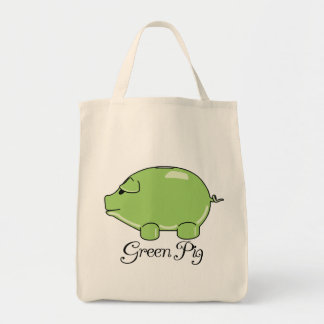 Green Pig Organic Tote Grocery Tote Bag