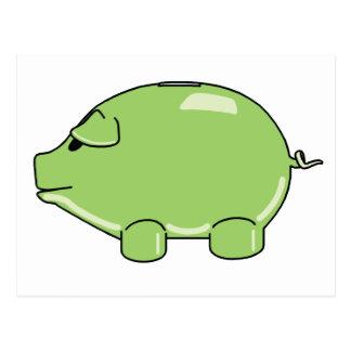 Green Pig Postcard