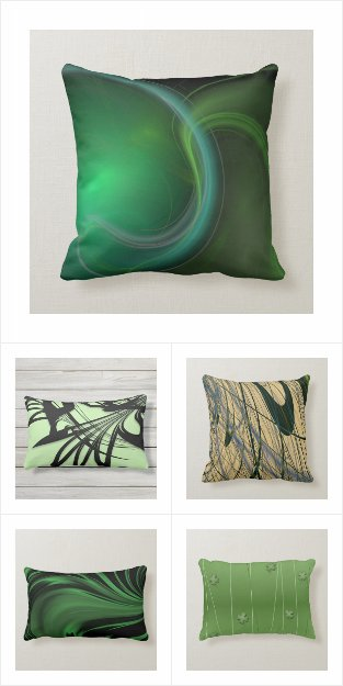 Green Pillow Collection / Quality Design Pillows