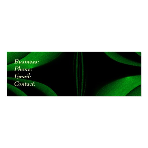 Green Pinch Business Cards
