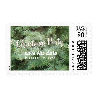 Green Pine Fir Christmas Trees Rustic Invitation Postage