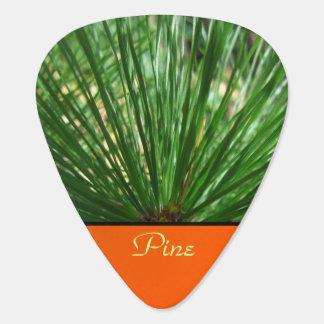 Green Pine Needles Guitar Pick