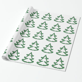 Green Pine Tree Wrapping Paper