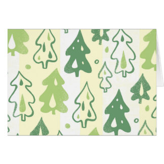 Green Pine Trees Environmental Forest Pattern Card