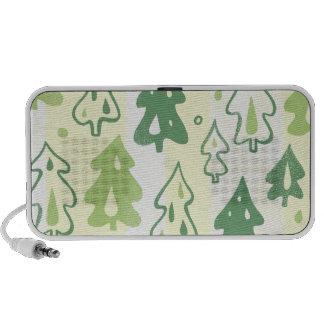 Green Pine Trees Environmental Forest Pattern Speaker System
