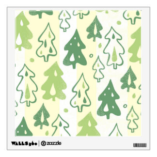 Green Pine Trees Forest Pattern Wall Decal