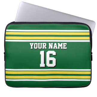 Green Pineapple Wht Team Jersey Custom Number Name Computer Sleeve