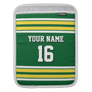 Green Pineapple Wht Team Jersey Custom Number Name Sleeve For iPads