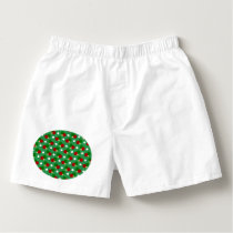 Green ping pong pattern boxers
