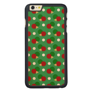Green ping pong pattern carved® maple iPhone 6 plus case