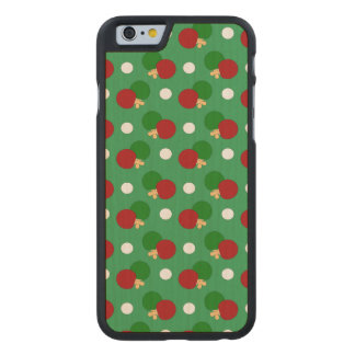 Green ping pong pattern carved® maple iPhone 6 slim case