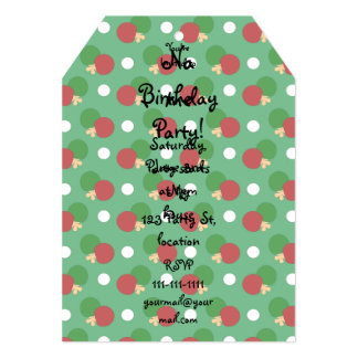 Green ping pong pattern personalized invitations