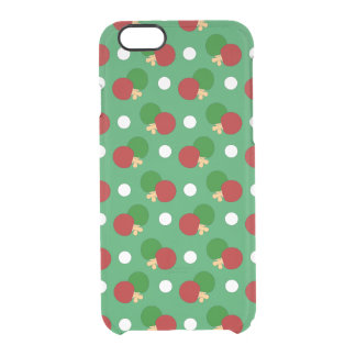 Green ping pong pattern uncommon clearly™ deflector iPhone 6 case