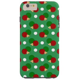 Green ping pong pattern tough iPhone 6 plus case