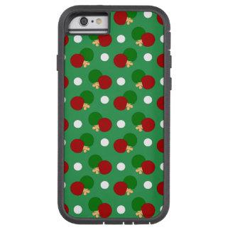 Green ping pong pattern tough xtreme iPhone 6 case