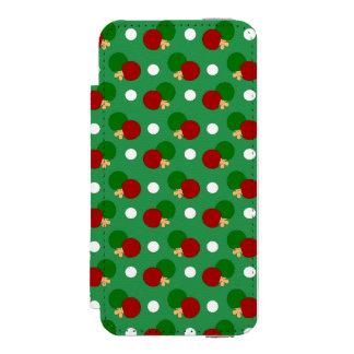 Green ping pong pattern incipio watson™ iPhone 5 wallet case