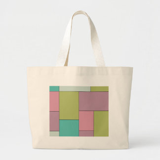 Green Pink and Purple Color Block Bag