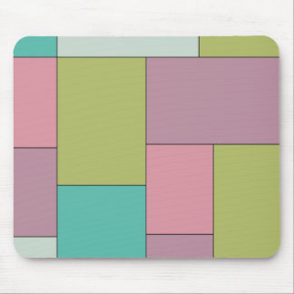 Green Pink and Purple Color Block Mouse Pads