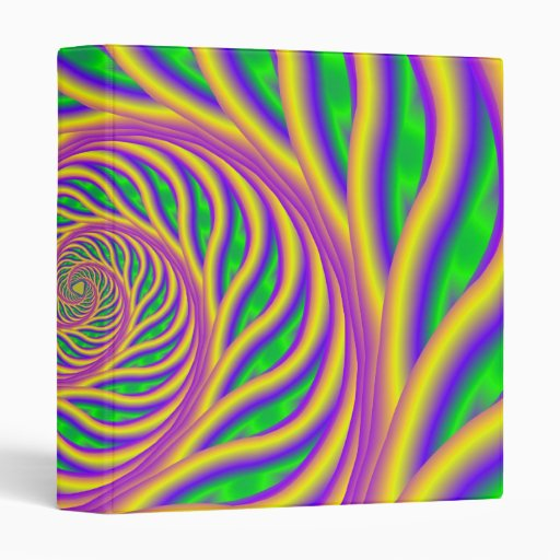 Green Pink and Yellow Spiral Binder