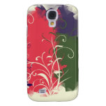 Green pink blue flower cubism samsung galaxy s4 covers
