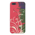 Green pink blue flower cubism cases for iPhone 5