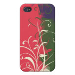 Green pink blue flower cubism iPhone 4 covers
