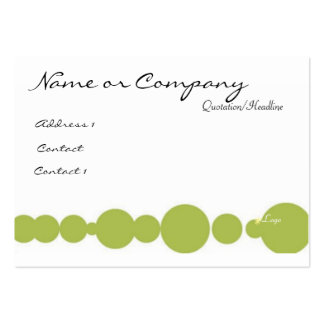 Green / Pink Business Card Template