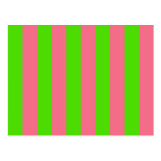 Green, Pink Candy Stripes Postcard