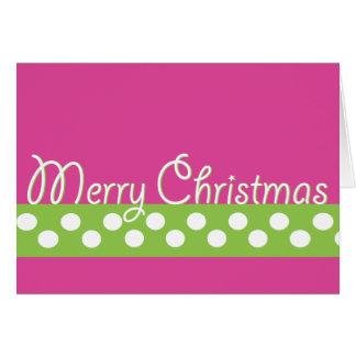 Green & Pink Christmas Card