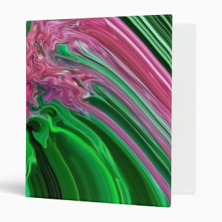 "Green & Pink Color Art Avery Signature 1"" Binder"