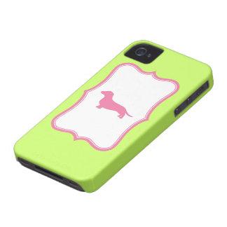 Green & Pink Dachshund case