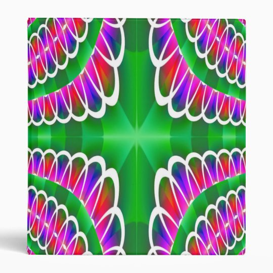 Green Pink Fractal Lace Binder