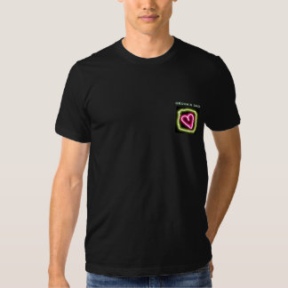 Green & pink heart customized groom's dad shirt