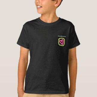 Green & pink heart customized ringbearer's shirt