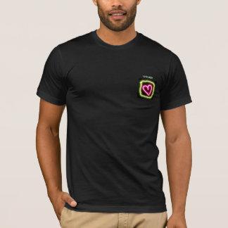 Green & pink heart customized usher's shirt