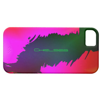 Green Pink iPhone 5 cover for Chelsea