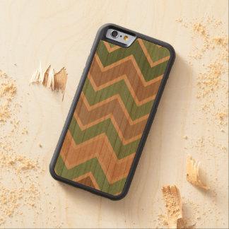 Green Pink Peach Chevron Carved® Cherry iPhone 6 Bumper Case