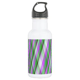 Green & Pink Plaid Water Bottle
