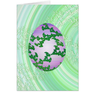 Green Pink & Purple Painted Egg Card