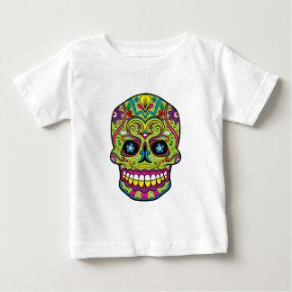 Green Pink Purple Tattoo Sugar Skull Baby T-Shirt