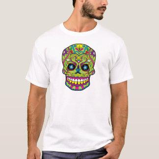 Green Pink Purple Tattoo Sugar Skull T-Shirt