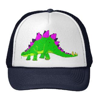 Green Pink Stegosaurus Dinosaur Trucker Hat