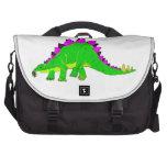 Green Pink Stegosaurus Dinosaur Laptop Computer Bag